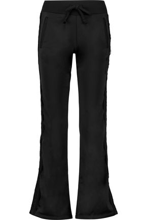 JUST CAVALLI Lace-trimmed jersey track pants