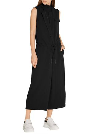 DKNY Cropped twill jumpsuit