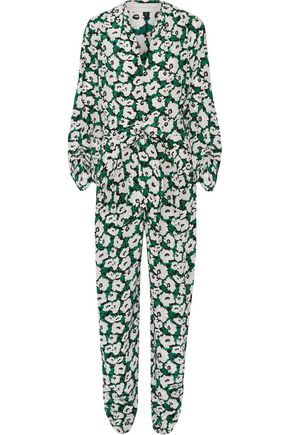 STELLA McCARTNEY Monia floral-print silk-crepe jumpsuit
