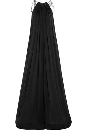 STELLA McCARTNEY Neva embellished silk wide-leg jumpsuit