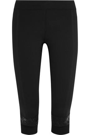 ADIDAS by STELLA McCARTNEY Paneled Climalite® stretch leggings
