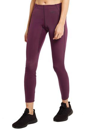 FENDI Paneled stretch-jersey leggings