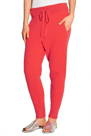 BAJA EAST Ribbed cashmere tapered pants