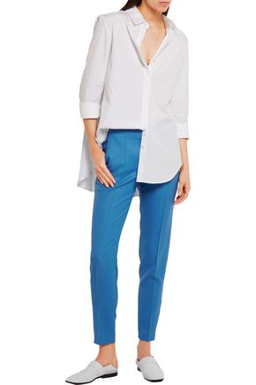 STELLA McCARTNEY Vivian wool-piqué straight-leg pants