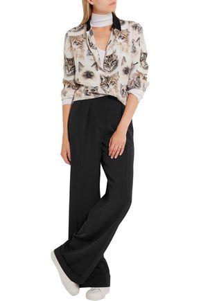 STELLA McCARTNEY Giorgi pleated wool-twill wide-leg pants