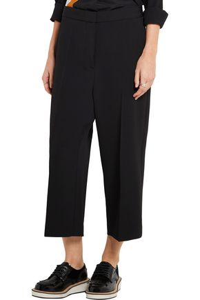 STELLA McCARTNEY Cropped wool-twill tapered pants