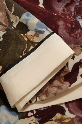 VALENTINO Floral-print silk crepe de chine wide-leg pants