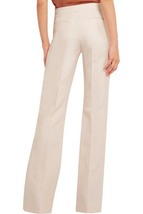 VALENTINO Wool and silk-blend flared pants