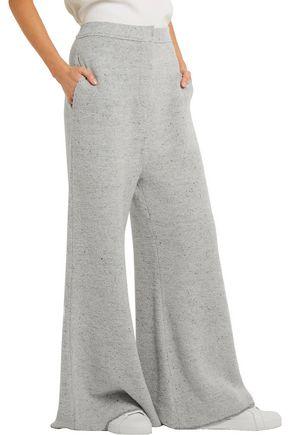 STELLA McCARTNEY Mélange bouclé-knit wide-leg pants