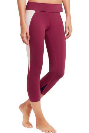 LIVE THE PROCESS Cropped stretch-Supplex® leggings