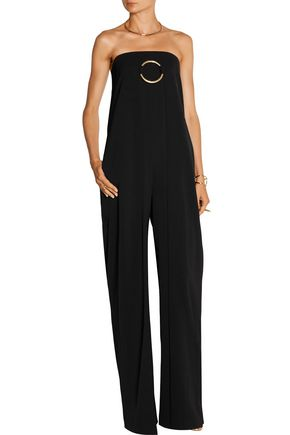 STELLA McCARTNEY Strapless wool-twill jumpsuit