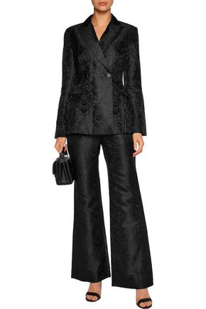ZIMMERMANN Cropped jacquard straight-leg pants