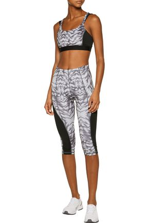 PURITY ACTIVE Cropped printed stretch leggings
