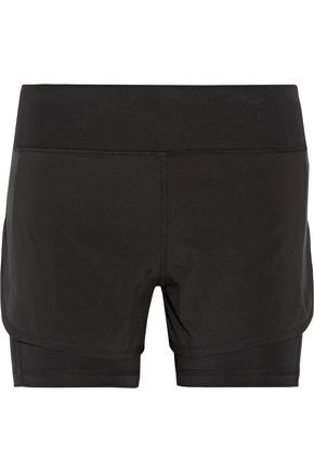 PURITY ACTIVE Layered stretch shorts
