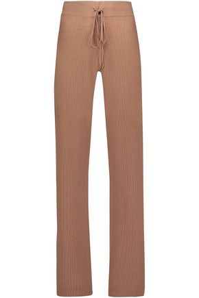 A.L.C. Stewart ribbed-knit merino wool and cashmere-blend track pants