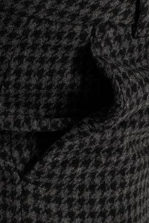 GANNI Houndstooth wool-blend pants