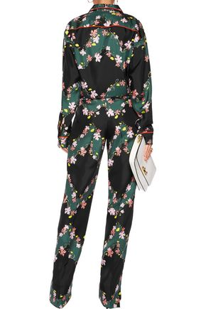 EMILIO PUCCI Printed silk satin-twill wide-leg pants