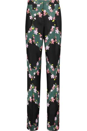 EMILIO PUCCI Printed silk satin-twill wide-leg pants