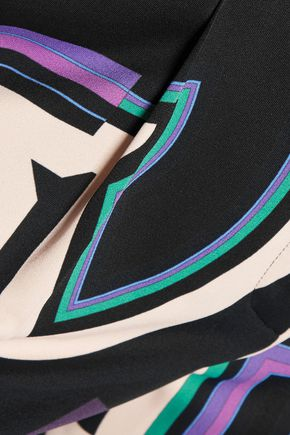 EMILIO PUCCI Printed crepe de chine pants