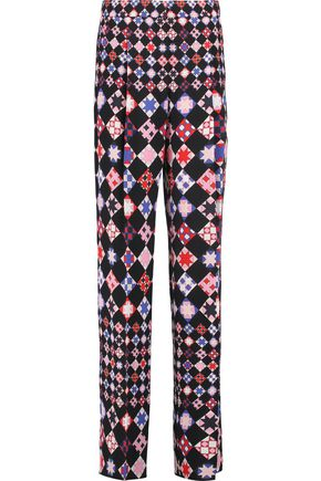 EMILIO PUCCI Printed crepe wide-leg pants