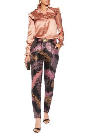 EMILIO PUCCI Brocade slim-leg pants