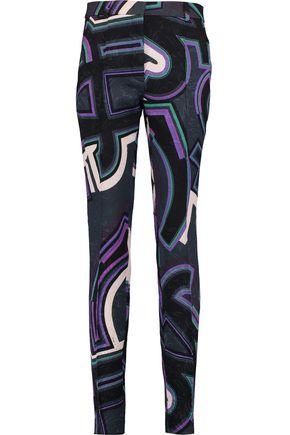 EMILIO PUCCI Printed jacquard slim-leg pants