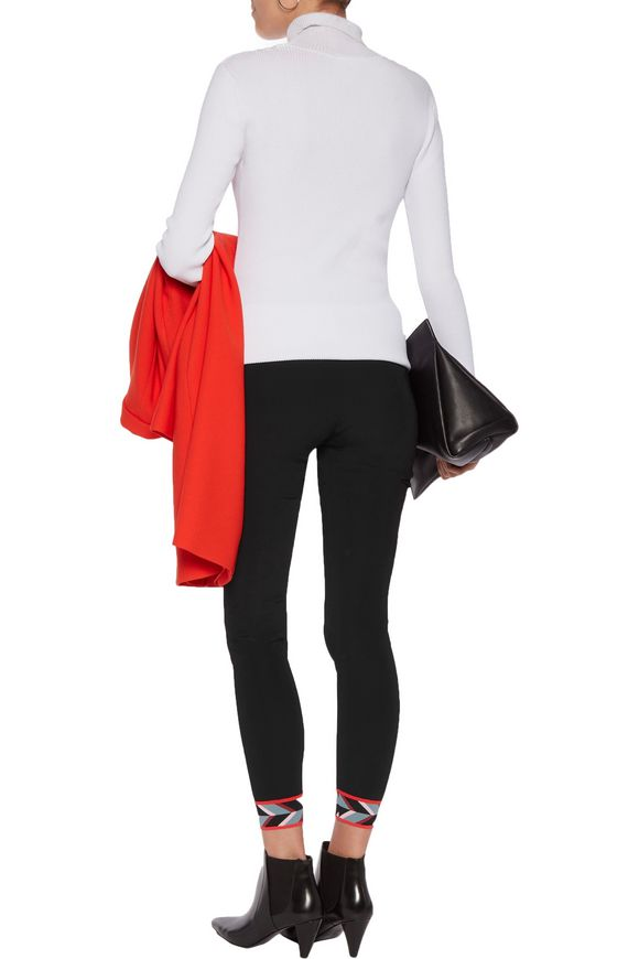 Intarsia knit-trimmed ponte leggings | EMILIO PUCCI | Sale up to 70% off |  THE OUTNET