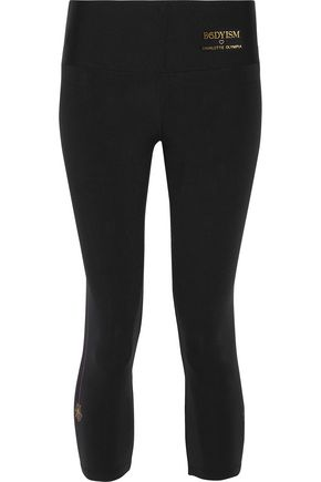 bodyism female bodyism woman charlotte olympia i am purrrfect cropped stretch leggings black size l