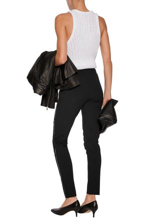 MAJE Stretch-jersey slim-leg pants