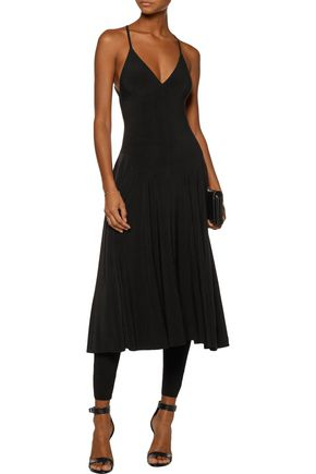 NORMA KAMALI Pleated stretch-jersey jumpsuit