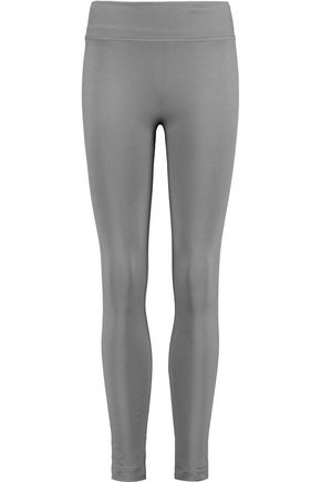 YUMMIE by HEATHER THOMSON® Jett croc-effect stretch-jersey leggings