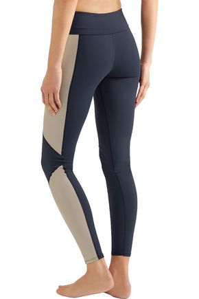 LIVE THE PROCESS Geometric paneled stretch-Supplex® leggings