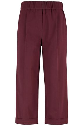 BRUNELLO CUCINELLI Stretch-cotton twill culottes