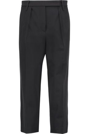 BRUNELLO CUCINELLI Wool-blend crepe pants