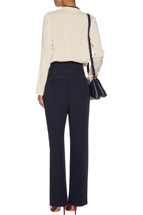 BRUNELLO CUCINELLI Pleated crepe straight-leg pants