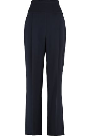 BRUNELLO CUCINELLI Pleated crepe straight-leg pants