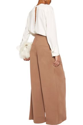 BRUNELLO CUCINELLI Cotton-blend wide-leg pants