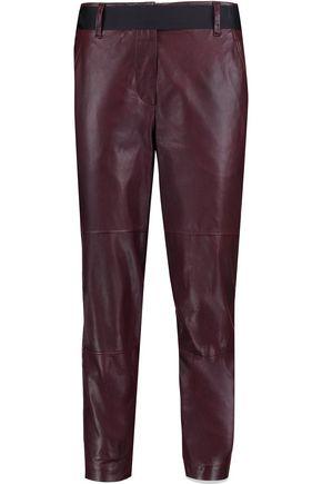 BRUNELLO CUCINELLI Leather straight-leg pants