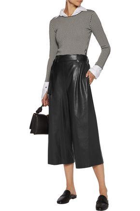 BRUNELLO CUCINELLI Belted leather culottes