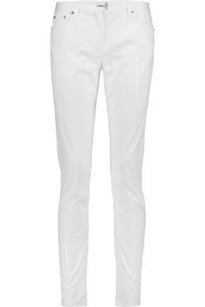 MAISON MARGIELA Coated twill skinny pants