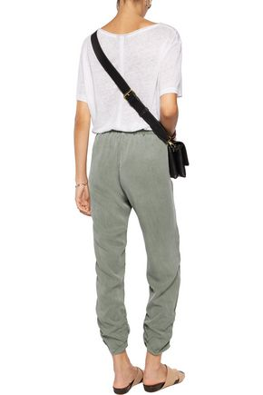 SPLENDID Ruched twill pants