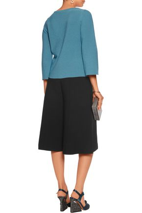 MILLY Stretch-knit culottes