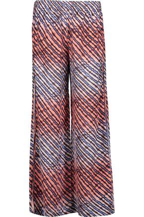 VIX Lice printed silk-georgette wide-leg pants