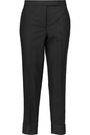 THOM BROWNE Cropped wool and mohair-blend tapered pants