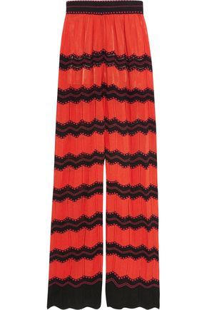 M MISSONI Cotton-blend crochet-knit wide-leg pants