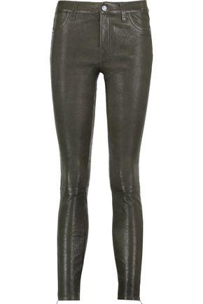 J BRAND Printed nubuck skinny pants