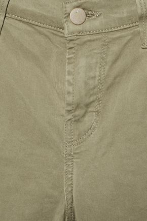 J BRAND Brushed-twill skinny pants