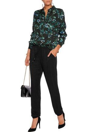 HAUTE HIPPIE The Thunderball beaded georgette track pants