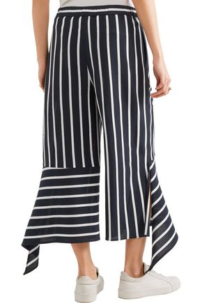 GOEN.J Striped cotton-blend culottes
