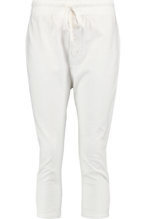 JAMES PERSE Cropped cotton-jersey tapered pants